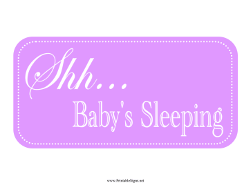 Slobbery image within baby sleeping sign printable