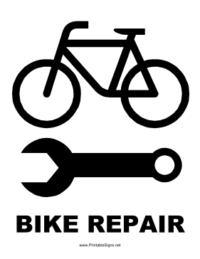 Bike Repair Sign