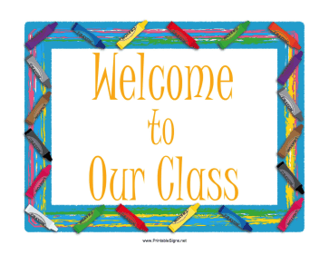 Striking image inside classroom signs printable