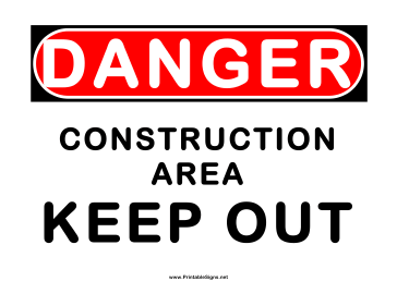 Witty image in free printable construction signs