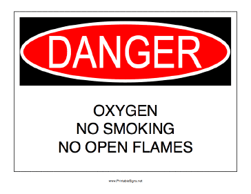 No Smoking Oxygen Sign