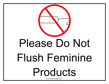 Intrepid image with printable do not flush signs