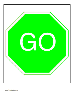 Printable Go Sign