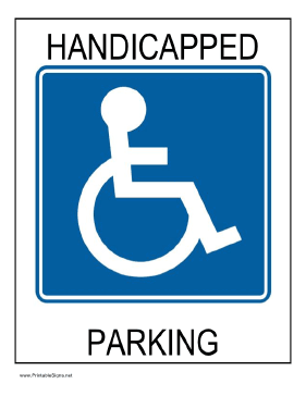 Printable handicap sign for Handicap parking sign template