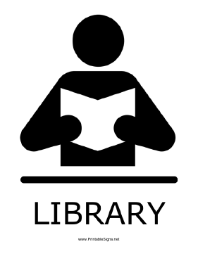 Bright image within printable library signs