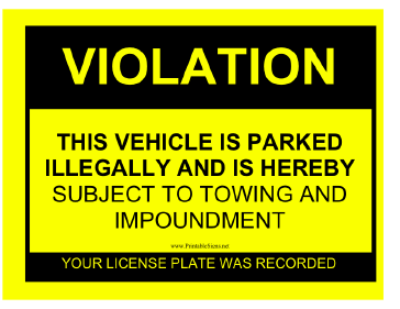 Pics Photos - Parking Tickets Printable Neighbors Friends Or Huge But