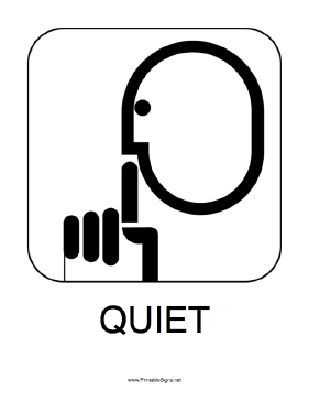 Printable Quiet Sign