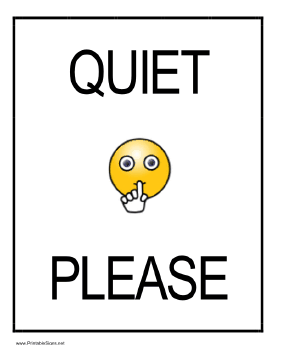 be quiet sign