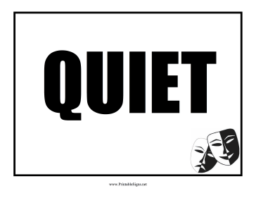 Shocking image for printable quiet signs