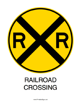 Versatile image intended for railroad crossing sign printable