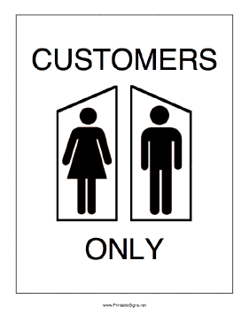 bathroom for customers only sign 28 images bathrooms