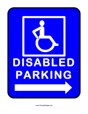 Printable disabled parking right sign for Handicap parking sign template