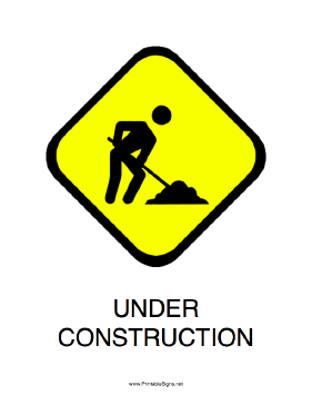 Breathtaking image pertaining to free printable under construction signs