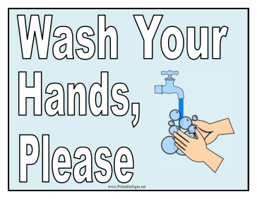 Declarative image with regard to printable hand wash signs