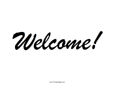 Sweet image inside welcome sign printable