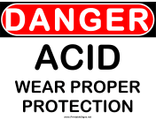 Danger Acid Wear Protection
