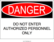 Authorized Entry Only