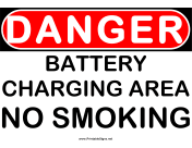 Danger Battery Charging Area 2