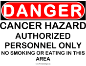 Danger Cancer Hazard