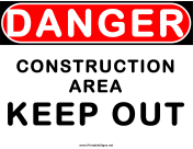 Danger Construction Area