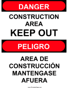 Construction Area Bilingual