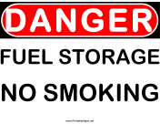 Danger Fuel Storage