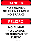 No Open Flames Bilingual