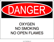 No Smoking Oxygen