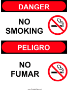 Sign No Smoking Bilingual