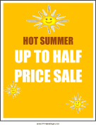 Summer Half Price Sale