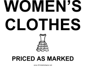 Womens Clothes Yard Sale
